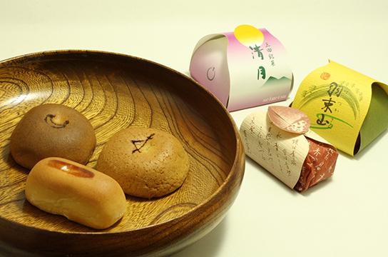 焼き菓子「羽束山・清月・栗まん」